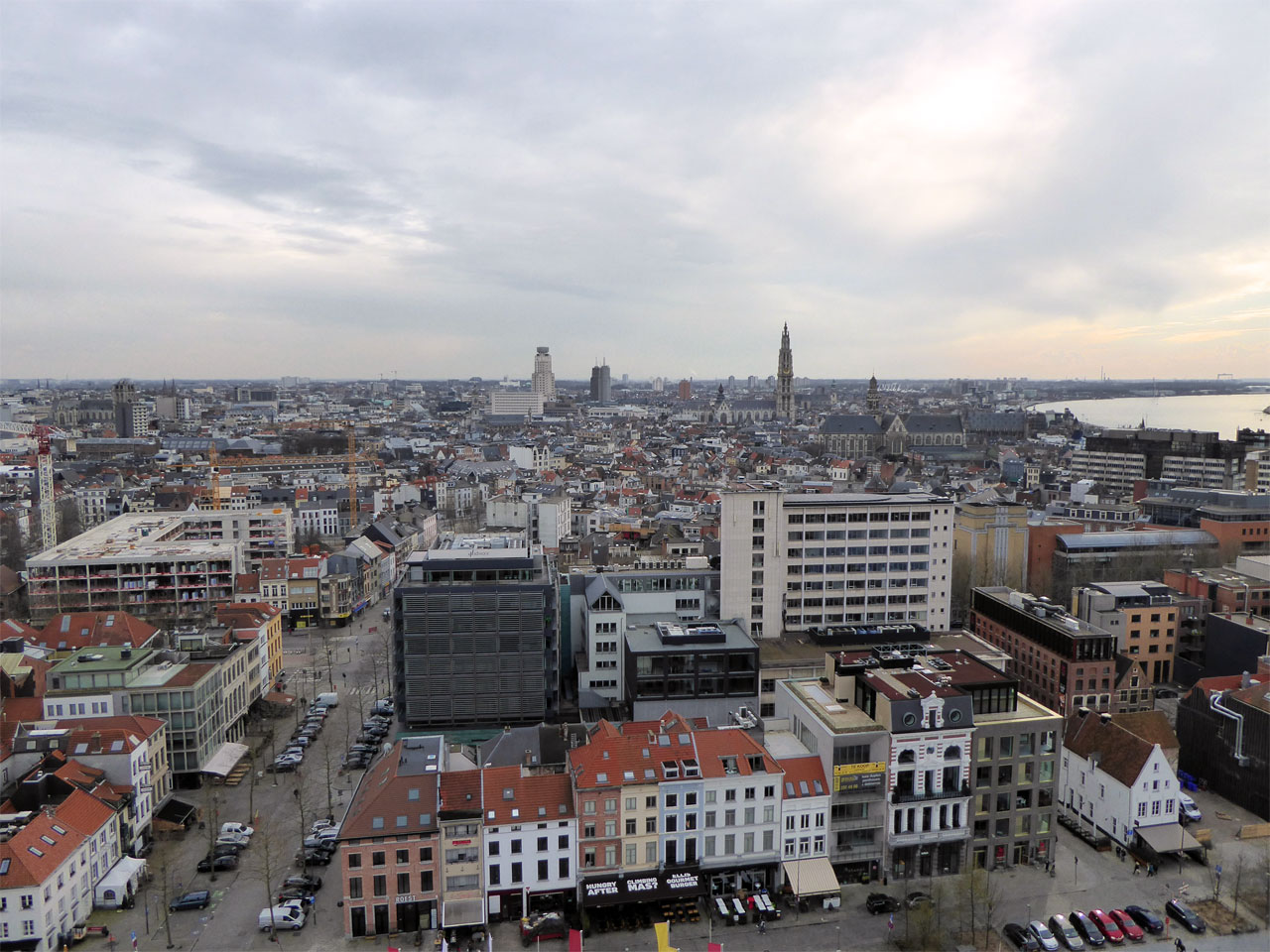 View from the MAS roof terrace, Antwerp