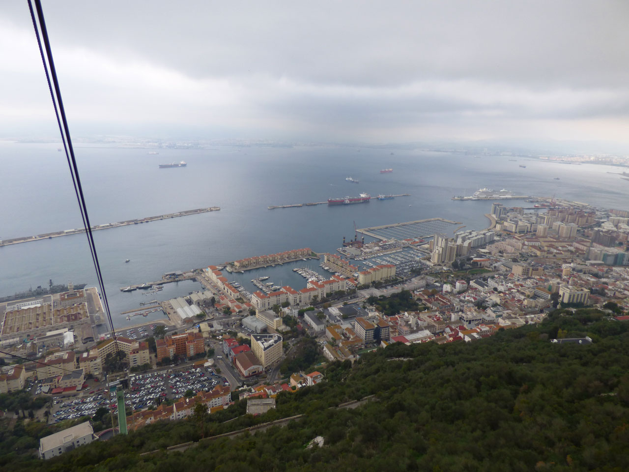 The view from the top of the Rock, Gibraltar