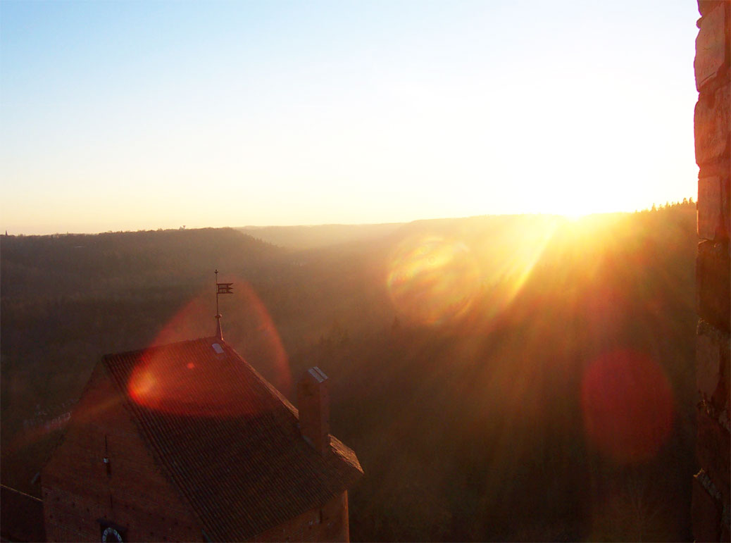 The view from Turaida castle at sunset, Gauja National Park, Latvia
