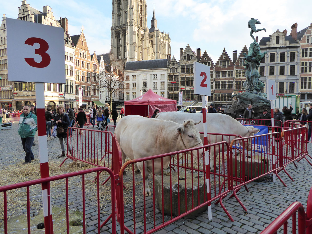 The weighing of the fat ox in Grote Markt, Antwerp