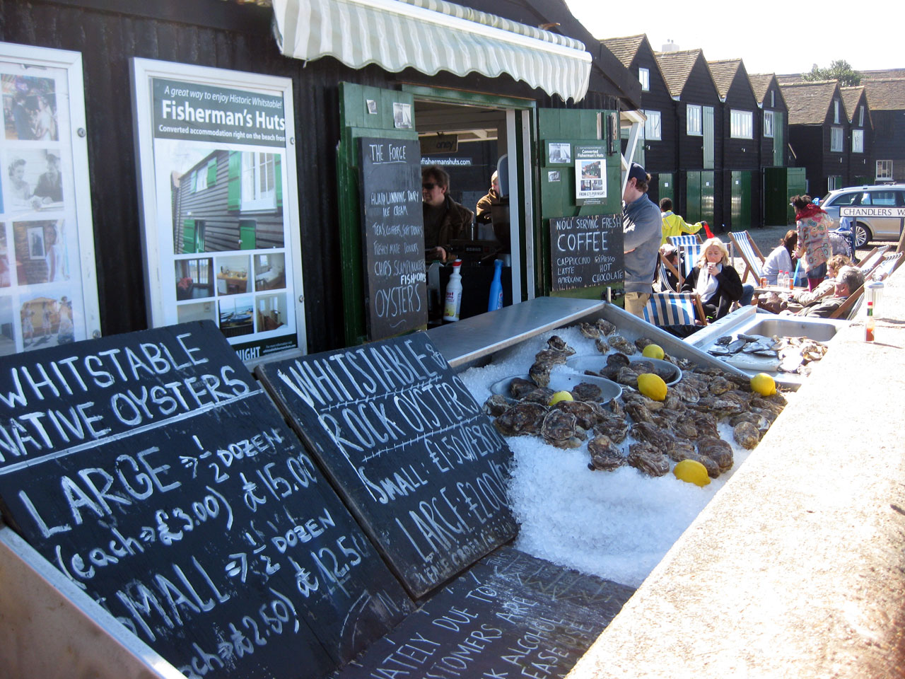 Oysters for sale in Whitstable, Kent