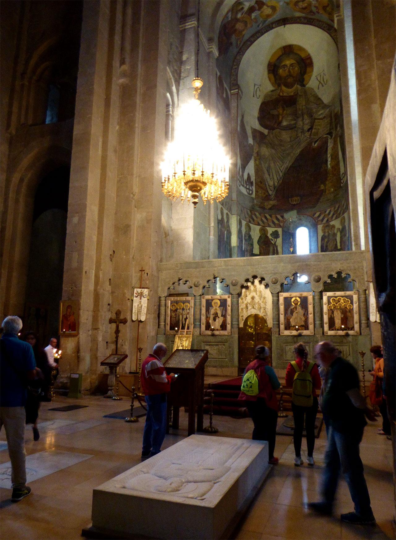 Inside Svetitskhoveli Cathedral in Mtskheta, Georgia
