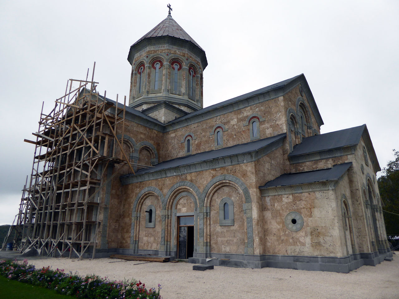 New church being built at Bodbe Monastery, Georgia