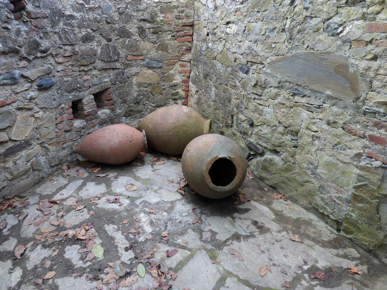 Qvevri jars at Gremi Monastery, Georgia
