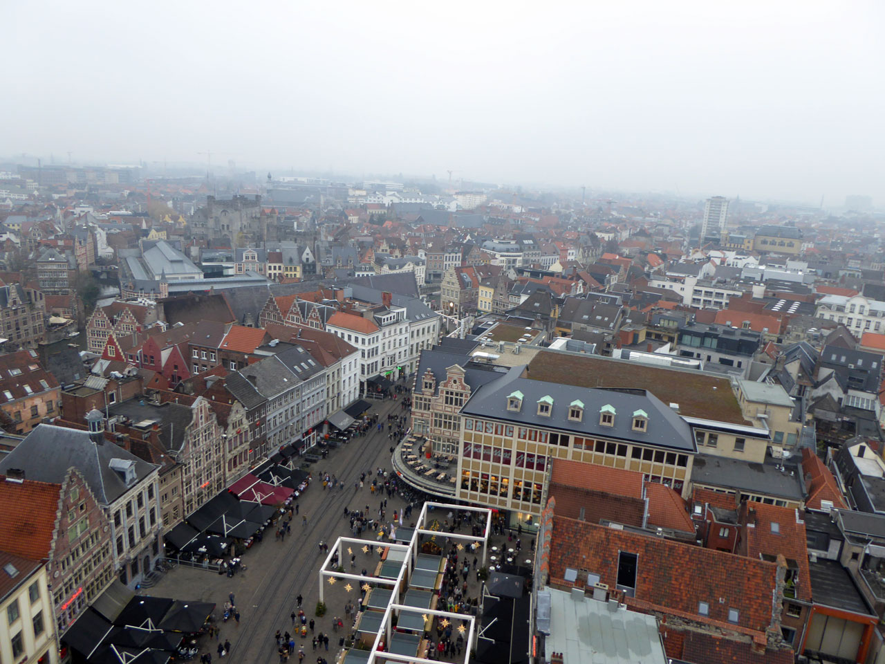 View of Ghent from the ferris wheel