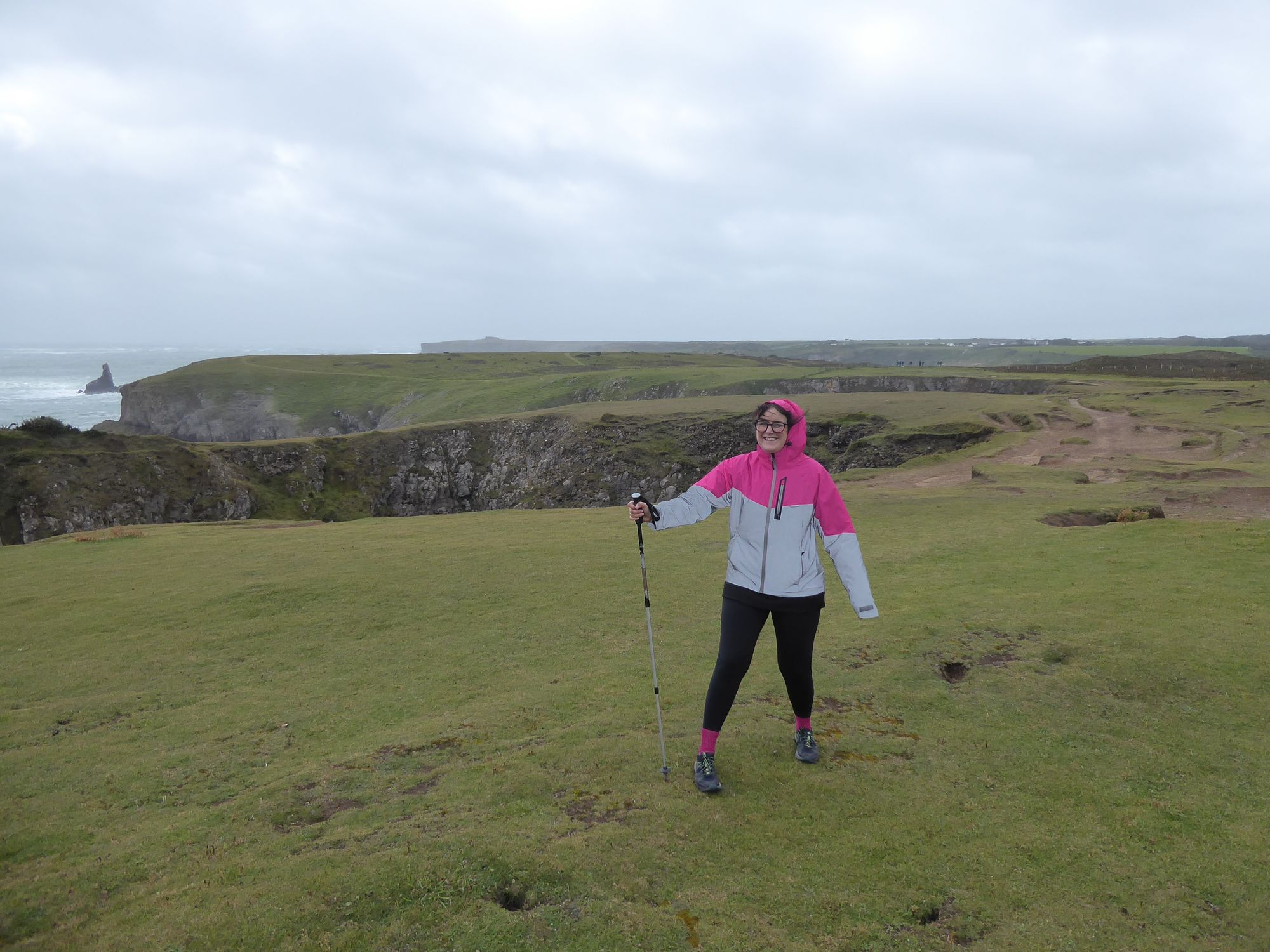 Polly on the clifftop path at Stackpole
