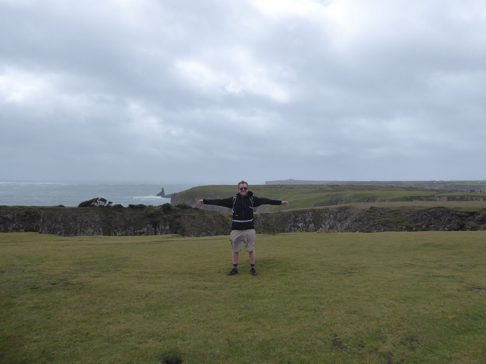 Tom on the clifftop path at Stackpole